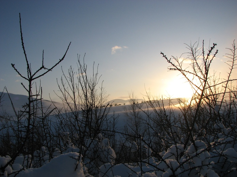 Jan 10, sunset snow 4